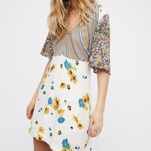 Free People : Mix It Up Mini Floral Dress